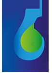 Hydrogen technologies water drop leaf agriculture logo