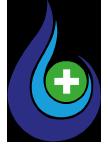 Hydrogen technologies Water drop main health logo